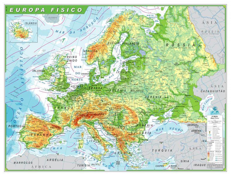 Europa Fsico  Geomapas