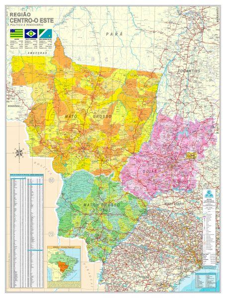 Região Centro Oeste Político e Rodoviário